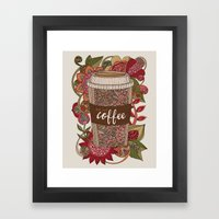 But first coffee Framed Art Print