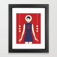 Isolde Red Framed Art Print
