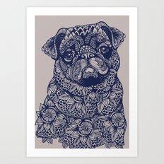 MANDALA OF PUG Art Print