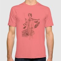 The Birds - Movies & Outfits Mens Fitted Tee Pomegranate SMALL