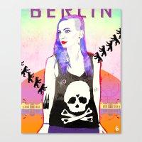 Welcome To BERLIN ||| Willkommen in Berlin Canvas Print