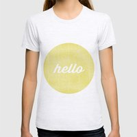 Hello Sunshine Womens Fitted Tee Ash Grey SMALL