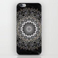 GOLD FLORAL MANDALA iPhone & iPod Skin