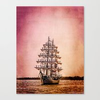 Tall ship Gloria Canvas Print