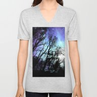 Unisex V-Neck featuring Black Trees Periwinkle S… by 2sweet4words Designs
