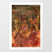 Zombies In A Red Dawn Ap… Art Print