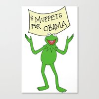 Muppets for Obama Canvas Print