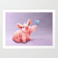 Lil Pig Art Print