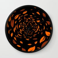 In The Leaves Wall Clock