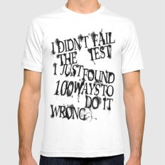 I Did Not Fail (ver. 2) Mens Fitted Tee White SMALL