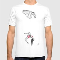 'By a thread' Mens Fitted Tee White SMALL