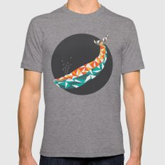 For the Love of Whales Mens Fitted Tee Tri-Grey SMALL