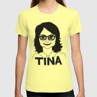 Tina Fey Womens Fitted Tee Lemon SMALL