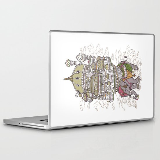 the walking palace Laptop & iPad Skin