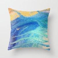 Beach Mosaic Throw Pillow