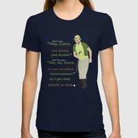 Carl Spackler And The La… Womens Fitted Tee Navy SMALL