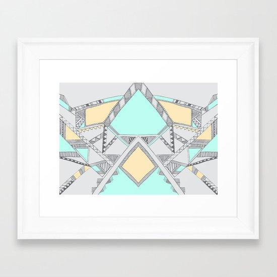 Aztec print illustration (2) Framed Art Print