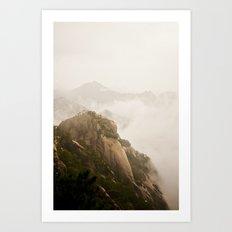 Golden Mountain Art Print