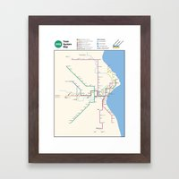 Milwaukee Transit System… Framed Art Print