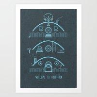 Welcome To Hobbitron Art Print