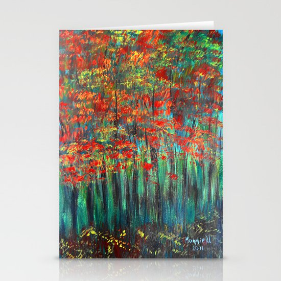 Forest Abstract Stationery Card
