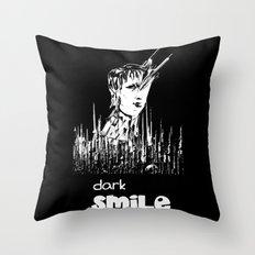 Dark Smile Throw Pillow
