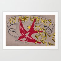 Fly Away With Me! Art Print