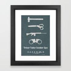 Tinker Tailor Soldier Spy Framed Art Print
