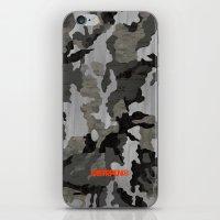 Modern Woodgrain Camouflage / Winter Birch Woodland Print iPhone & iPod Skin