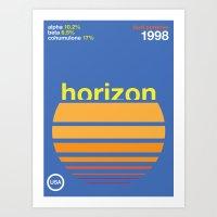 horizon//single hop Art Print