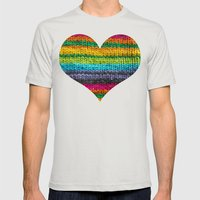 Rainbow In Wool Mens Fitted Tee Silver SMALL
