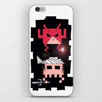 Daredevil and Elektra space invaders iPhone & iPod Skin