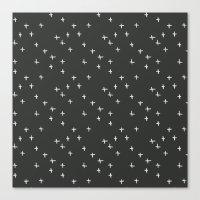 White Stars Canvas Print