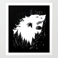The One They Call Snow Art Print