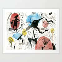 Memories Swell with Vodka in hand Art Print