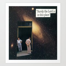 surely the lord is in this place Art Print