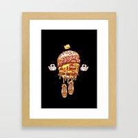 King Burger Framed Art Print