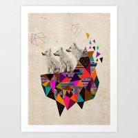 The Night Playground By … Art Print