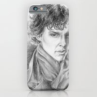 iPhone & iPod Case featuring Sherlock Homles by Anna Tromop Illustration