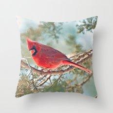 I Spy... (Northern Cardinal) Throw Pillow