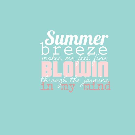 Summer Breeze Typography Art Print