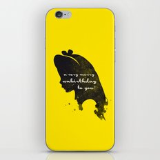 Unbirthday – Alice Silhouette Quote iPhone & iPod Skin