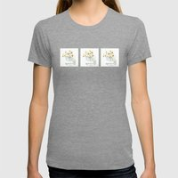 Fractalius Daisies Womens Fitted Tee Tri-Grey SMALL