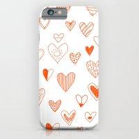 fun hearts iPhone 6 Slim Case