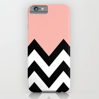 iPhone & iPod Case featuring CORA COLORBLOCK CHEVRON  by natalie sales