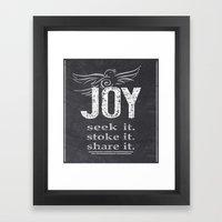 JOY...share It! Framed Art Print