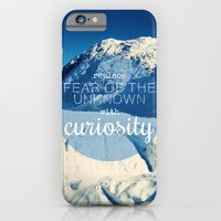 iPhone & iPod Case featuring Replace Fear of the Unknown With Curiosity by Audrey Kelly