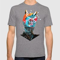061113 Mens Fitted Tee Tri-Grey SMALL