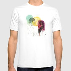 Love doesn't need words. White SMALL Mens Fitted Tee