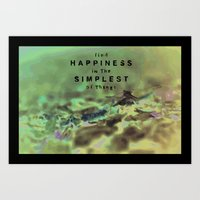 Find Happiness In The Si… Art Print